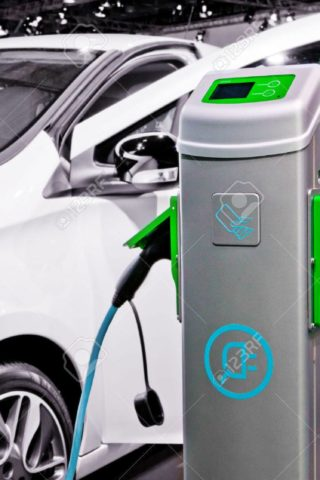 45012861-plug-in-electric-car-being-charged-